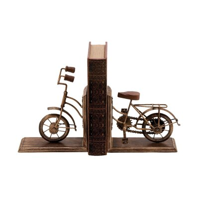 Woodland Imports Metal Book Ends Amp Reviews Wayfair