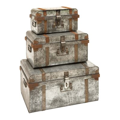 3 Piece Trunk Set by Woodland Imports
