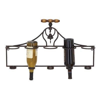 5 Bottle Wall Mount Wine Rack by Woodland Imports