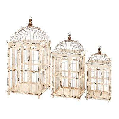 Woodland Imports 3 Piece Metal Assorted Decorative Bird Cage