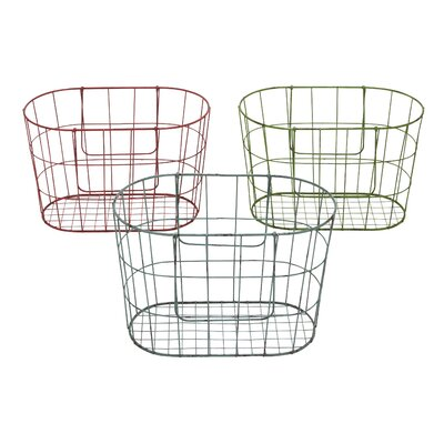 Vintage French Market Baskets by Woodland Imports