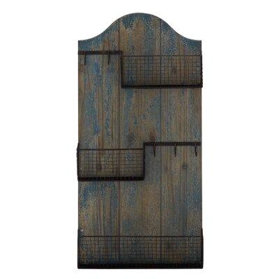 Woodland Imports Wood and Metal Coat Rack