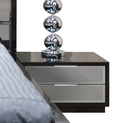 Mera 2 Drawer Nightstand by Sharelle Furnishings