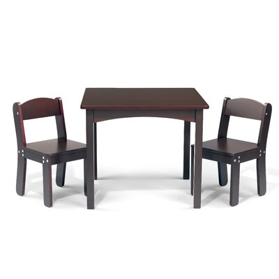 WonkaWoo Deluxe Children's 3 Piece Table and Chair Set by Sunnywood