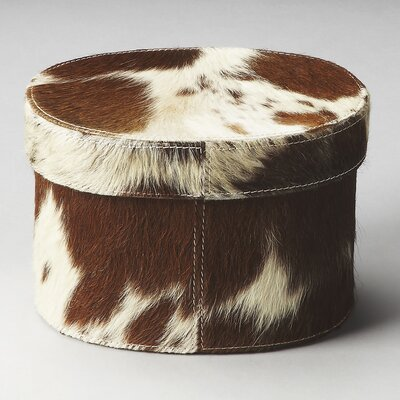Butler Hors D'oeuvres San Angelo Hair-On-Hide Oval Storage Box