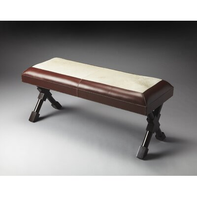 Loft Taos Leather Hide-on-Hide Entryway Bench by Butler