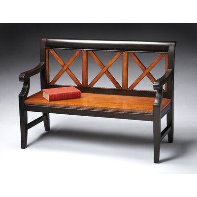 Transitional Cherry Veneer Bench by Butler