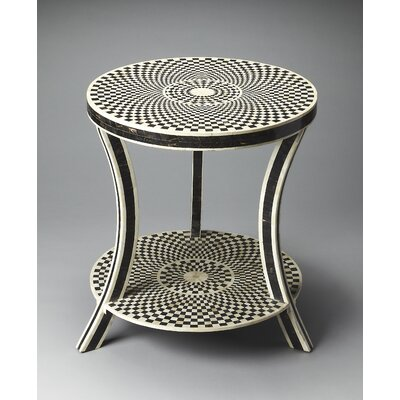 Bone Inlay End Table by Butler