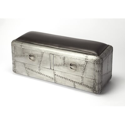 Industrial Chic Yeager Aviator Aluminum Storage Bench by Butler
