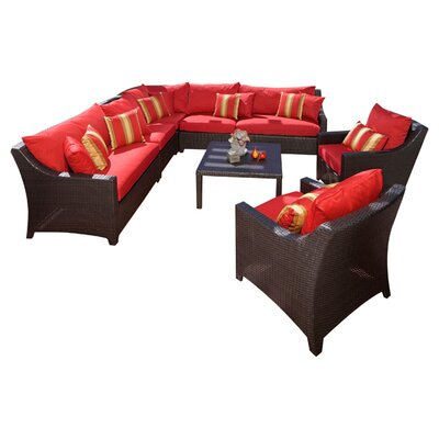 Rst Brands Outdoor Deco 9 Piece Deep Seating Group With