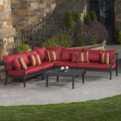 RST Brands Astoria 6 Piece Corner Sectional Seating Group with Cushions