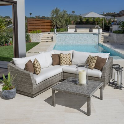 Cannes 4 Piece Seating Group with Cushion by RST Brands Outdoor