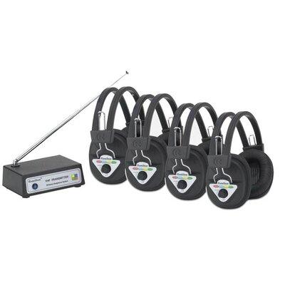 Hamilton Electronics Multi Wireless Listening Center with 4 Headphones