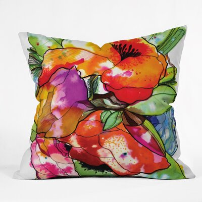 DENY Designs Cayena Blanca Big Flowers Throw Pillow