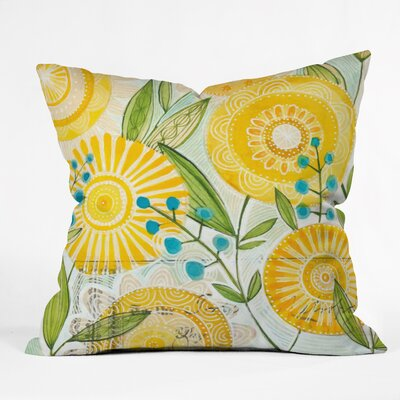 Cori Dantini Sun Burst Flowers Throw Pillow by DENY Designs