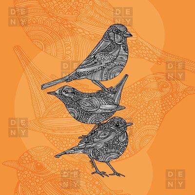DENY Designs Valentina Ramos 3 Little Birds Shower Curtain
