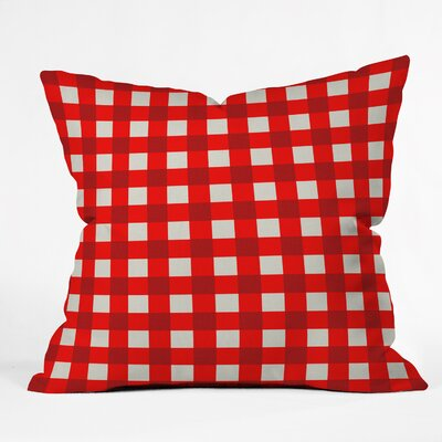 Holli Zollinger Red Gingham Indoor/Outdoor Throw Pillow by DENY Designs