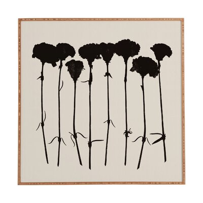 Carnations by Garima Dhawan Framed Painting Print in Black by DENY Designs
