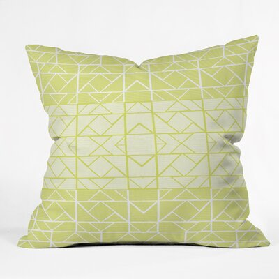 Gneural Shifting Pyramids Lemon Indoor/Outdoor Throw Pillow by DENY Designs