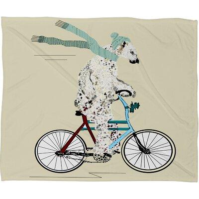Brian Buckley Polar Bear Days Plush Fleece Throw Blanket by DENY Designs