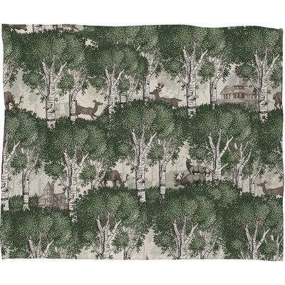 Belle13 My Deer Secret Forest Plush Fleece Throw Blanket by DENY Designs