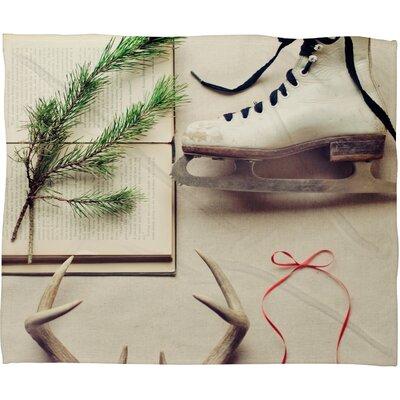 The Light Fantastic Christmas Card Plush Fleece Throw Blanket by DENY Designs