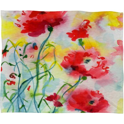 Ginette Fine Art If Poppies Could Only Speak Throw Blanket by DENY Designs