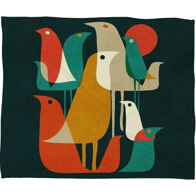 Budi Kwan Flock Of Bird Throw Blanket by DENY Designs
