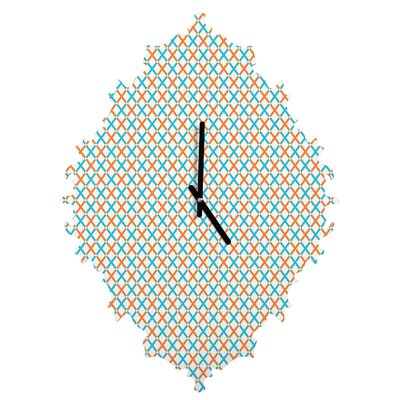 Tammie Bennett X Check Wall Clock by DENY Designs