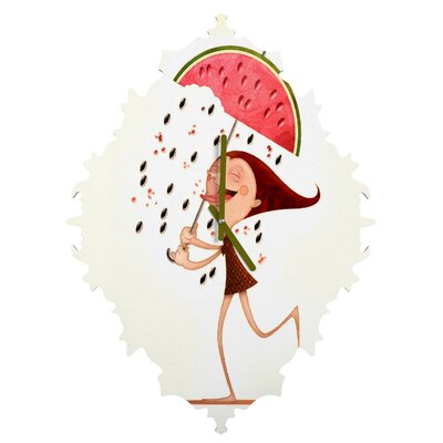 Jose Luis Guerrero Watermelon Wall Clock by DENY Designs