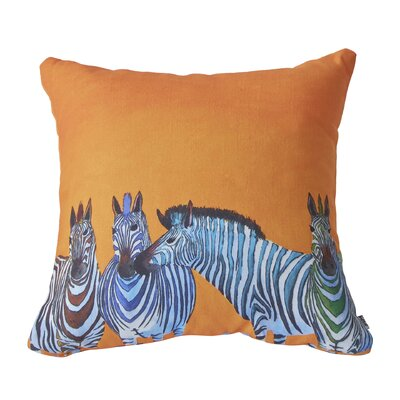 Clara Nilles Candy Stripe Zebra Throw Pillow by DENY Designs