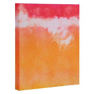 Tangerine Tie Dye by Laura Trevey Painting Print on Canvas by DENY Designs