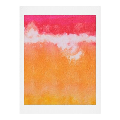 Tangerine Tie Dye by Laura Trevey Painting Print by DENY Designs