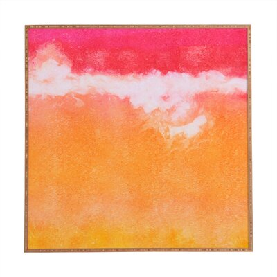 Tangerine Tie Dye by Laura Trevey Framed Painting Print by DENY Designs