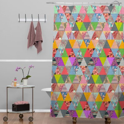DENY Designs Bianca Green Lost in Pyramid Shower Curtain