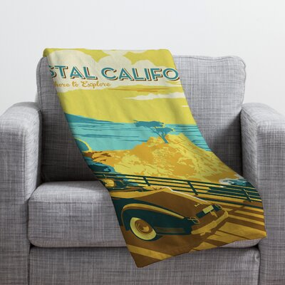 DENY Designs Anderson Design Group Coastal California Throw Blanket