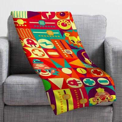 DENY Designs Chobopop Elecro Circus Throw Blanket