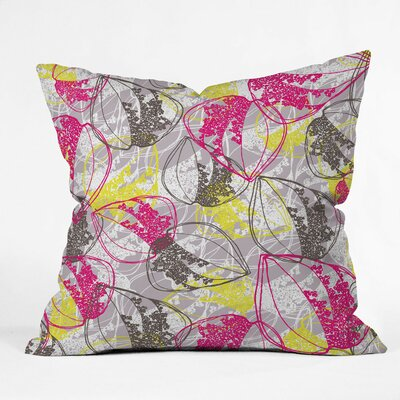 Rachael Taylor Organic Retro Leaves Polyester Throw Pillow by DENY Designs