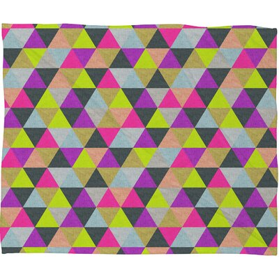 DENY Designs Bianca Green Ocean of Pyramid Throw Blanket