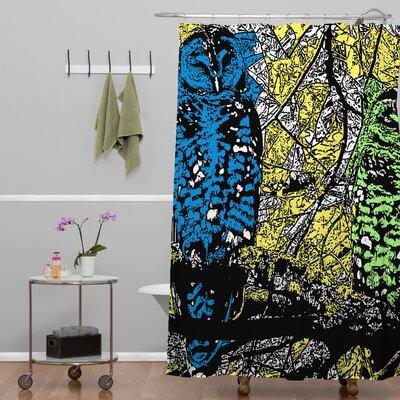 romi vega bright owl shower curtain by deny designs