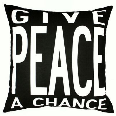 Uptown Artworks Peace Throw Pillow