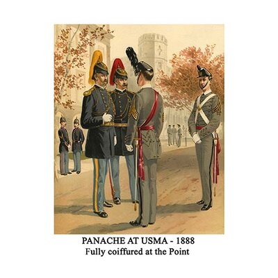 'Panache at Usma 1888 Fully Coiffured at The Point' by Henry Alexander Ogden Graphic Art ...