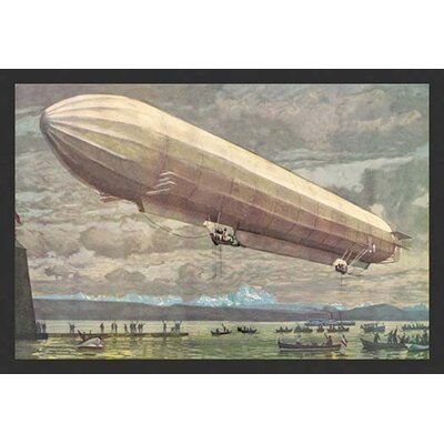 'Zeppelin Above Lake Constance' Vintage Advertisement by Buyenlarge