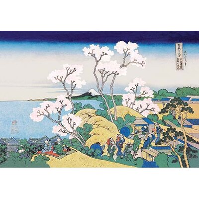 Cherry Blossom Festival by Hokusai Painting Print by Buyenlarge