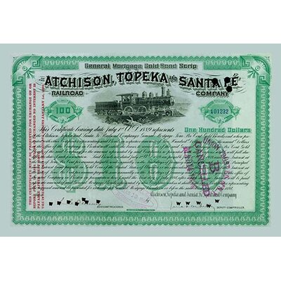 Atchison, Topeka and Santa Fe Stock Certificate Wall Art by Buyenlarge