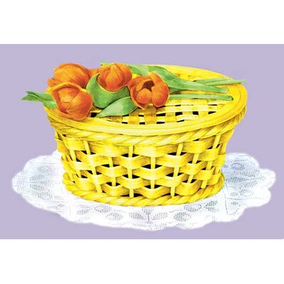 'Sugar Basket with Tulips' Painting Print by Buyenlarge