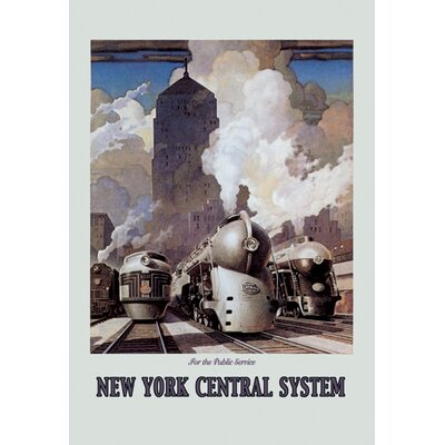 Buyenlarge New York Central System by Ragan Vintage Advertisement on Wrapped Canvas