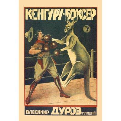 Buyenlarge Kangaroo Boxer Vintage Advertisement on Wrapped Canvas