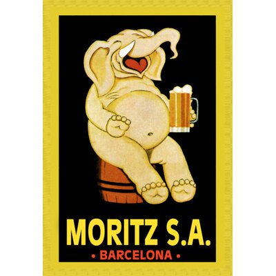 Buyenlarge Moritz S.A. Vintage Advertisement on Wrapped Canvas