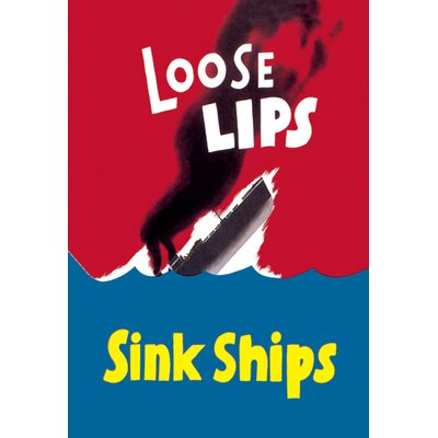 Loose Lips Sink Ships Vintage Advertisement on Wrapped Canvas by Buyenlarge